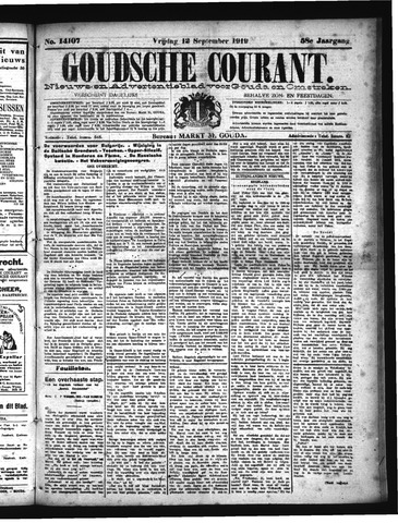 Goudsche Courant 1919-09-12