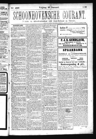 Schoonhovensche Courant 1920-01-30