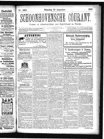 Schoonhovensche Courant 1918-08-13