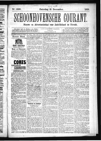 Schoonhovensche Courant 1910-12-31