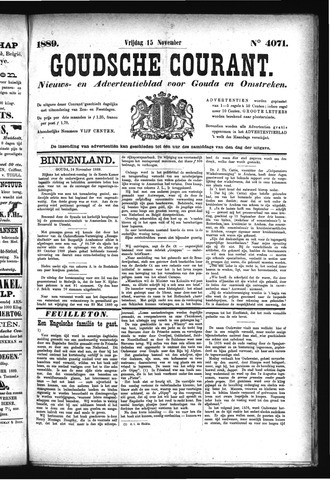Goudsche Courant 1889-11-15