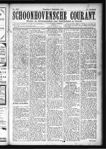 Schoonhovensche Courant 1923-09-03