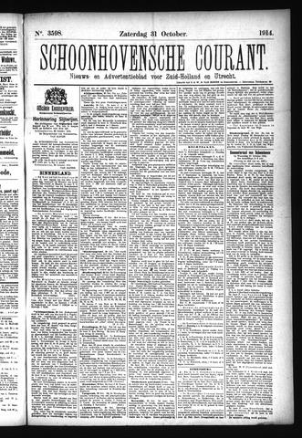 Schoonhovensche Courant 1914-10-31
