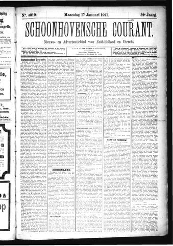 Schoonhovensche Courant 1921-01-17