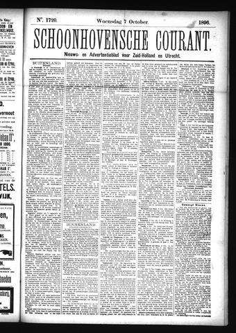 Schoonhovensche Courant 1896-10-07