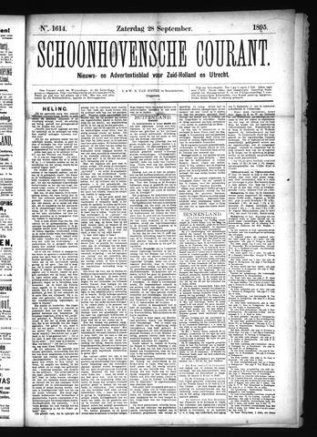 Schoonhovensche Courant 1895-09-28