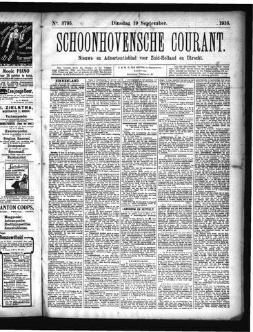 Schoonhovensche Courant 1916-09-19