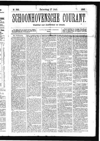 Schoonhovensche Courant 1886-07-17