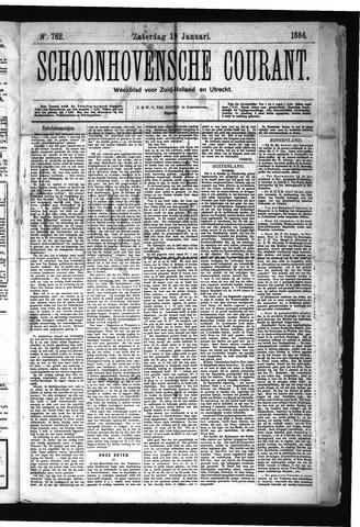 Schoonhovensche Courant 1884-01-19
