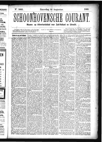 Schoonhovensche Courant 1895-08-24