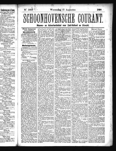 Schoonhovensche Courant 1898-08-17