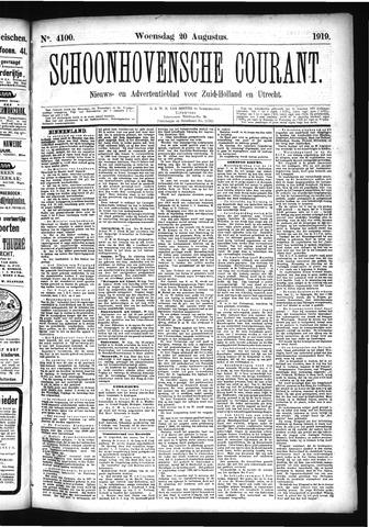 Schoonhovensche Courant 1919-08-20