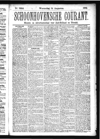 Schoonhovensche Courant 1901-08-14