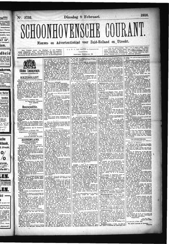 Schoonhovensche Courant 1916-02-08