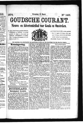 Goudsche Courant 1874-03-18