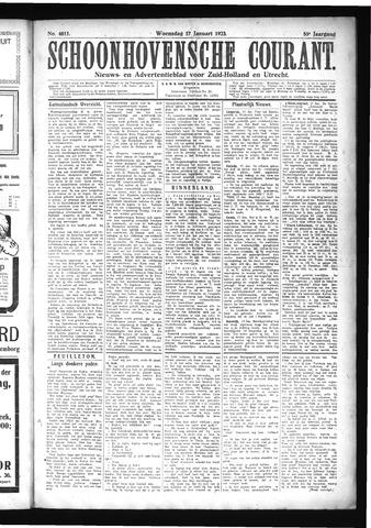 Schoonhovensche Courant 1923-01-17