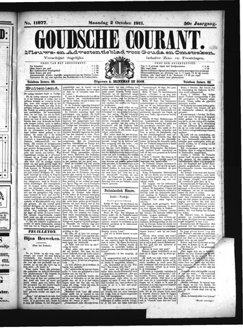 Goudsche Courant 1911-10-02