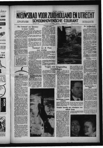 Schoonhovensche Courant 1958-10-08