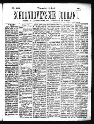 Schoonhovensche Courant 1907-06-12