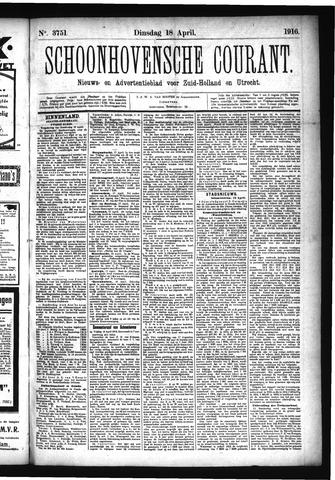 Schoonhovensche Courant 1916-04-18
