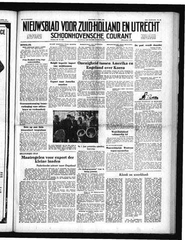 Schoonhovensche Courant 1951-04-09
