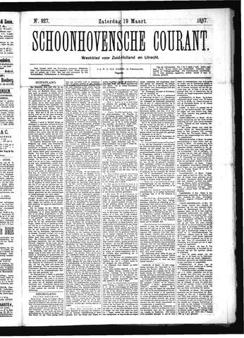 Schoonhovensche Courant 1887-03-19