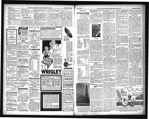 Schoonhovensche Courant 1933-03-08