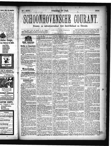 Schoonhovensche Courant 1916-07-18
