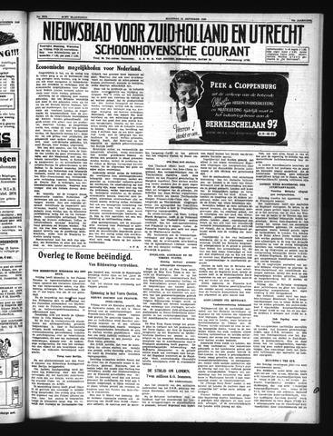 Schoonhovensche Courant 1940-09-23