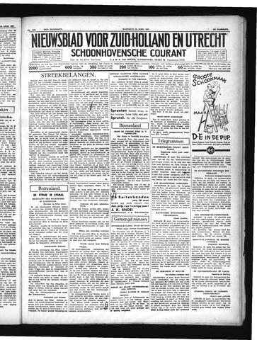 Schoonhovensche Courant 1937-04-28