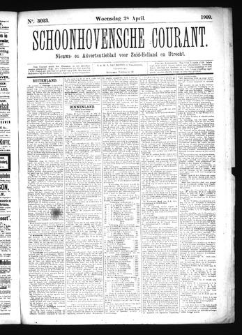 Schoonhovensche Courant 1909-04-28