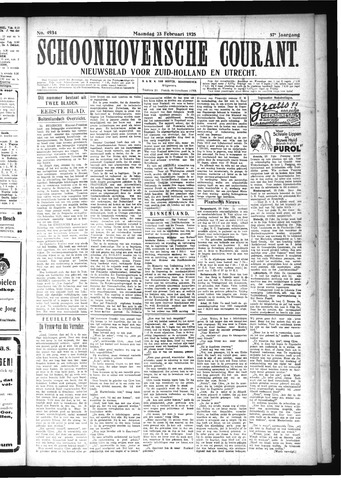 Schoonhovensche Courant 1925-02-23
