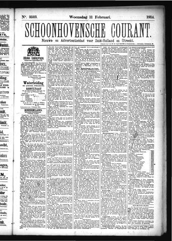 Schoonhovensche Courant 1914-02-11