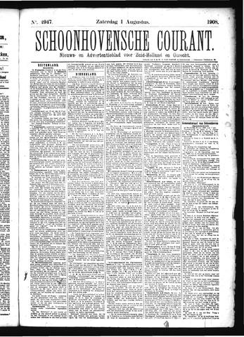 Schoonhovensche Courant 1908-08-01