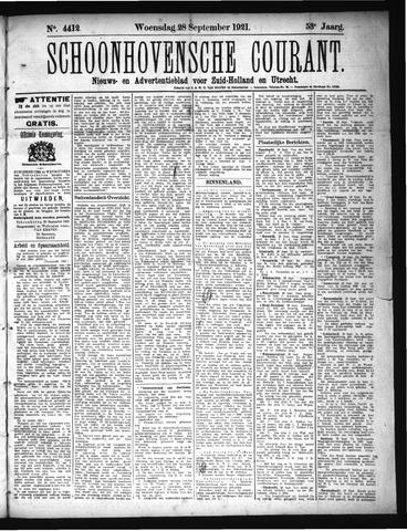 Schoonhovensche Courant 1921-09-28