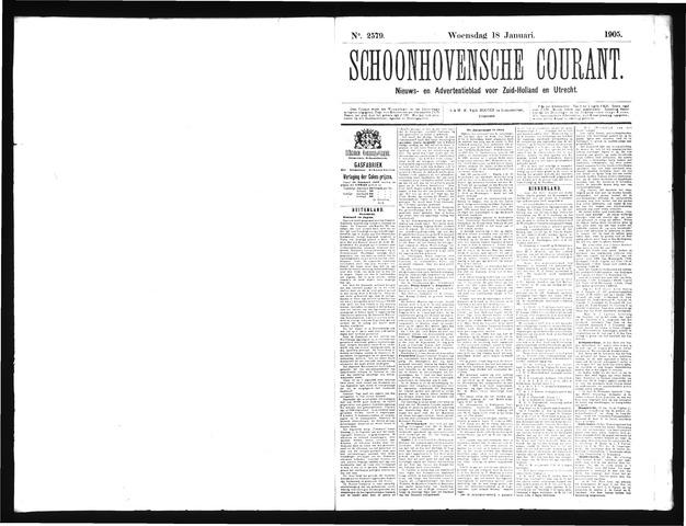 Schoonhovensche Courant 1905-01-18