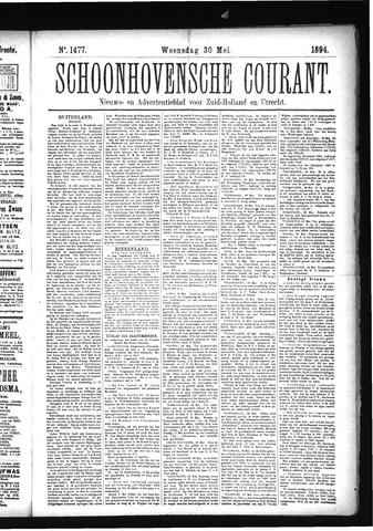 Schoonhovensche Courant 1894-05-30