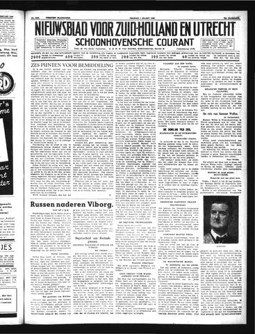 Schoonhovensche Courant 1940-03-01