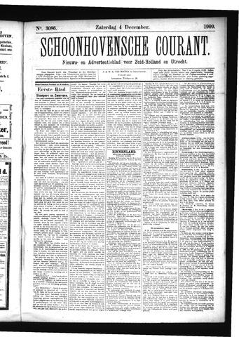 Schoonhovensche Courant 1909-12-04