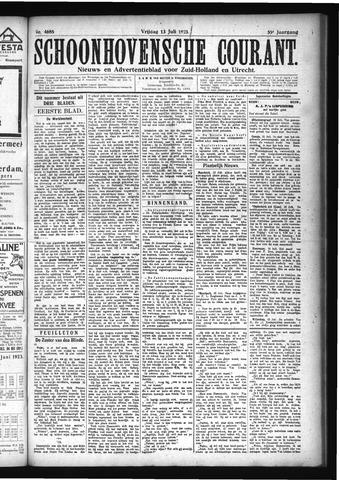 Schoonhovensche Courant 1923-07-13