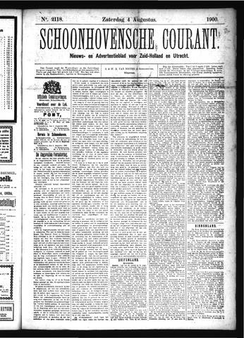 Schoonhovensche Courant 1900-08-04