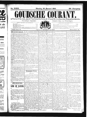 Goudsche Courant 1911-01-10