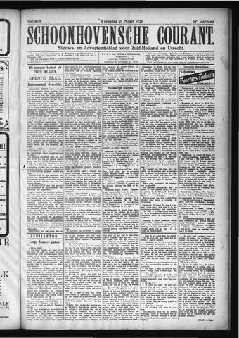 Schoonhovensche Courant 1923-03-21