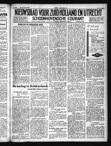 Schoonhovensche Courant 1940-11-01