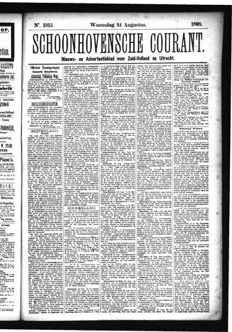 Schoonhovensche Courant 1898-08-24