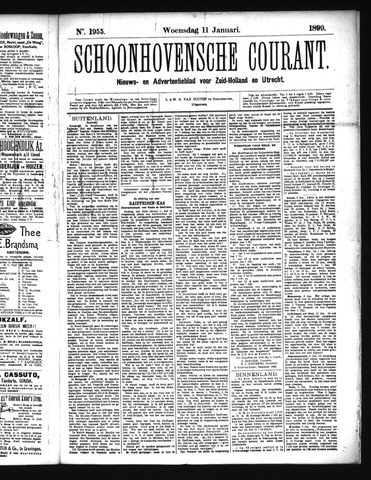Schoonhovensche Courant 1899-01-11