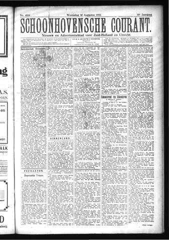 Schoonhovensche Courant 1922-08-30