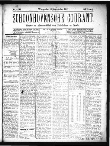 Schoonhovensche Courant 1921-11-16