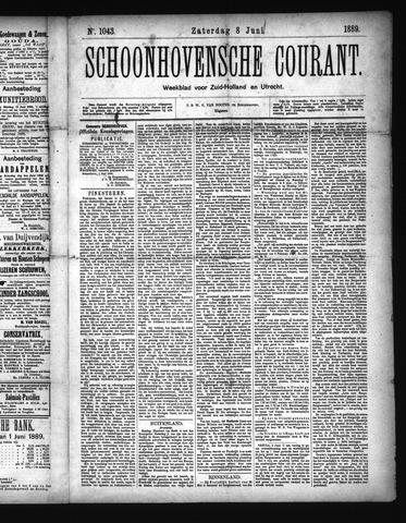 Schoonhovensche Courant 1889-06-08