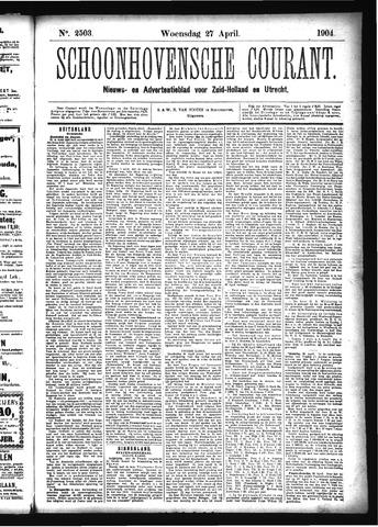 Schoonhovensche Courant 1904-04-27
